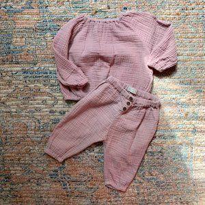 Zara Cotton Muslin Set | 6-9m